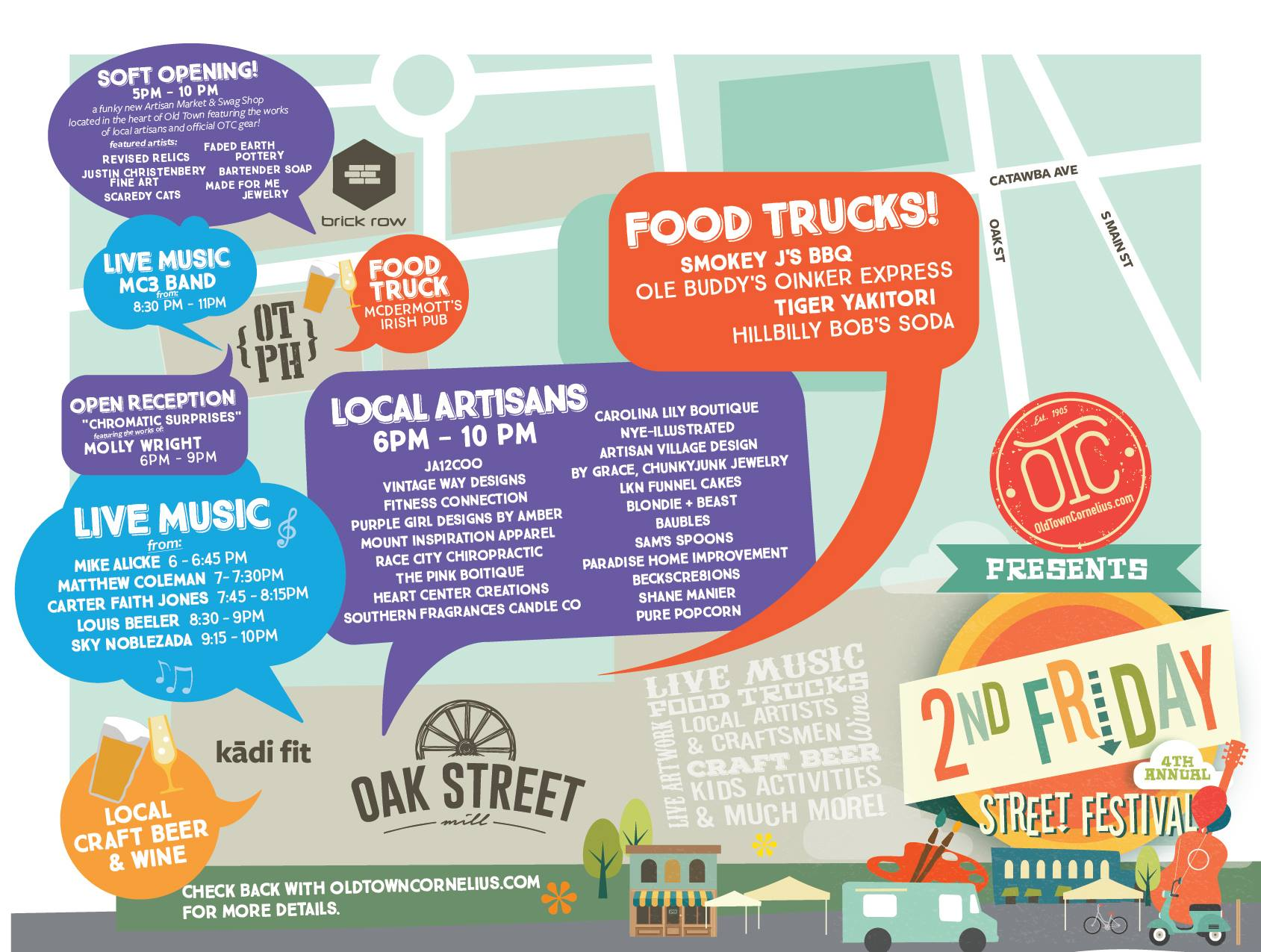 OTC 2nd Friday Street Festival – May 12th Event Details